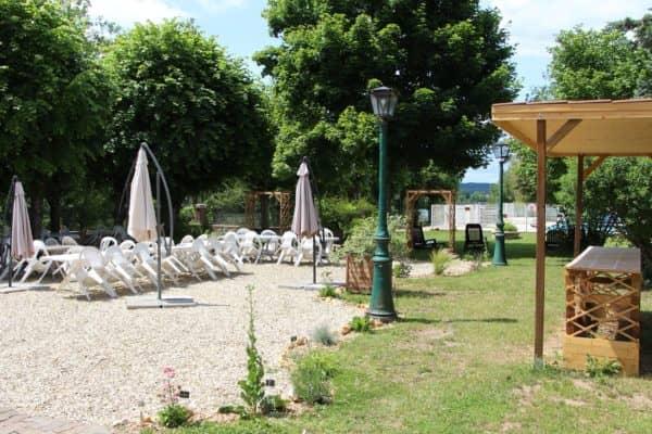 Terrasse de l'hôtel village de vacances CAP France