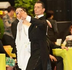 Les professeurs de danse Laurence et Fabien